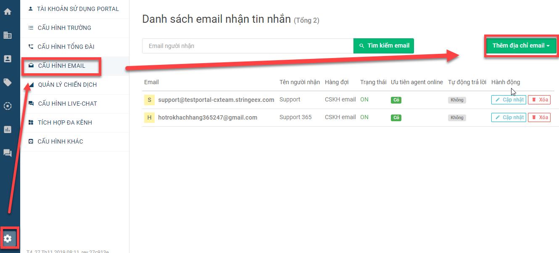 Cấu hình Email
